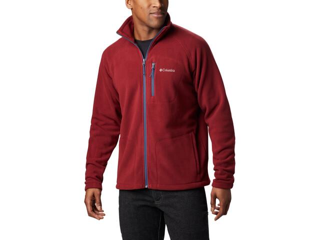Columbia Fast Trek II Full-Zip Fleece Jacket Herren red jasper/dark mountain